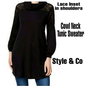 Lacey Long cowl neck sweater